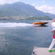 Spider Boat 24V. 78 kts on the Como Lake waters (Italy). Powered by MarineDiesel & single MSA Surface Drive.