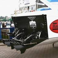 Powered by GM-MarineDiesel 'HUMMER Series' and MSA-SXR surface drives (England)